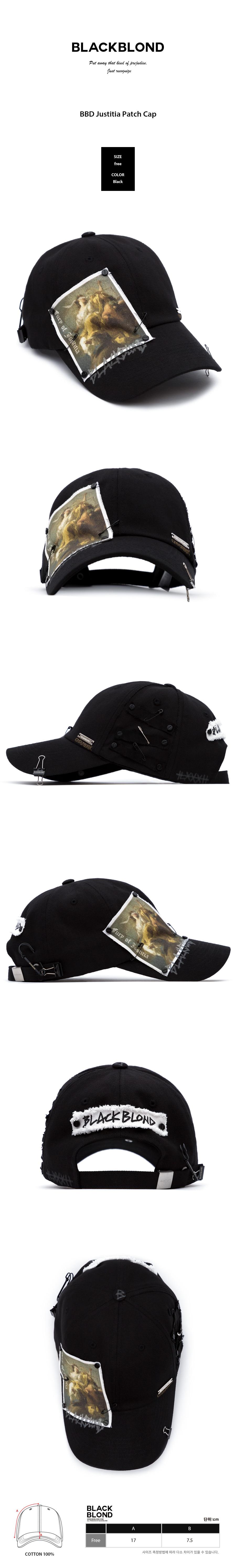 BLACKBLOND - BBD Justitia Patch Cap (Black)