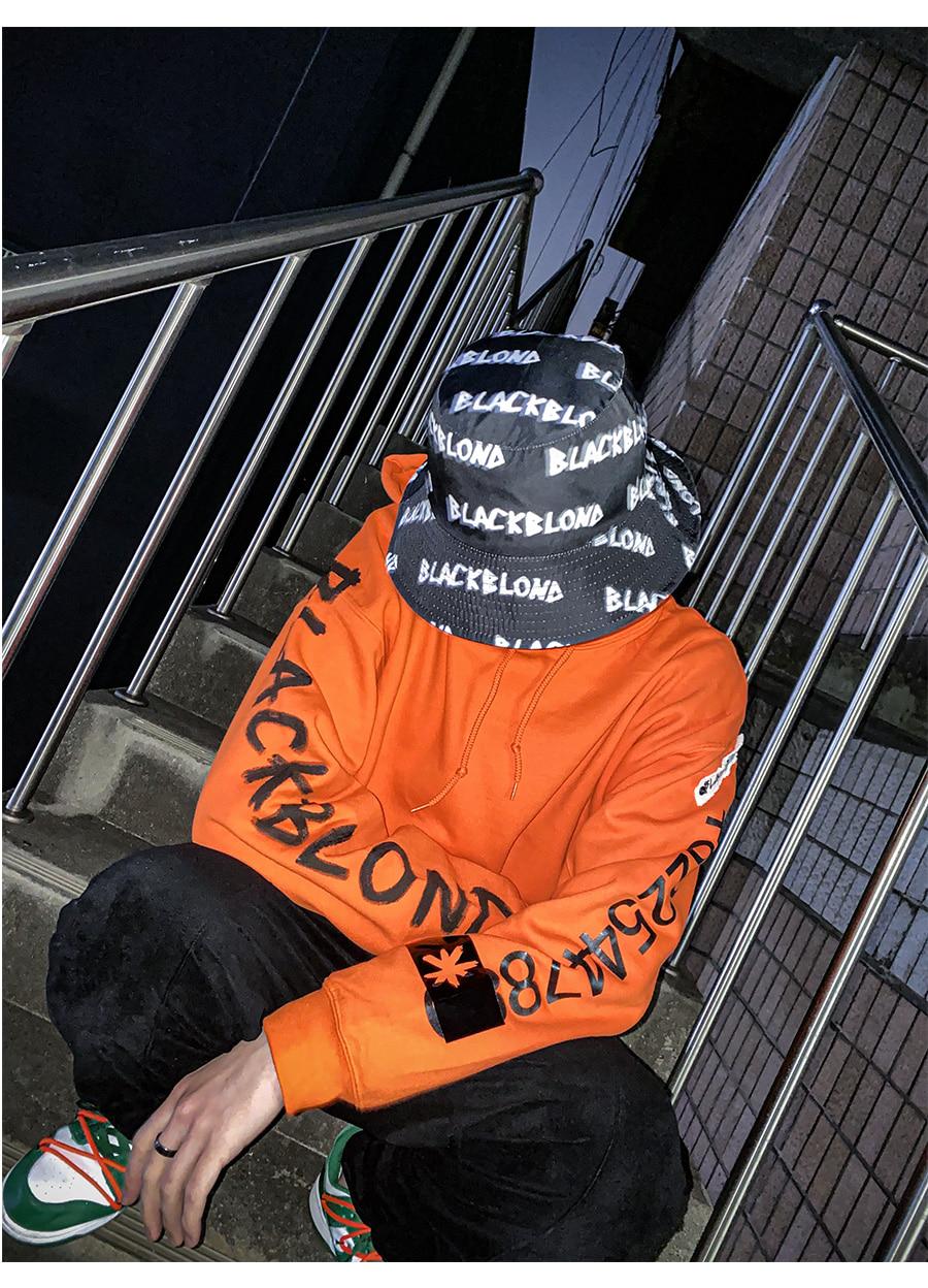 BLACKBLOND - BBD Graffiti Number Hoodie (Orange)