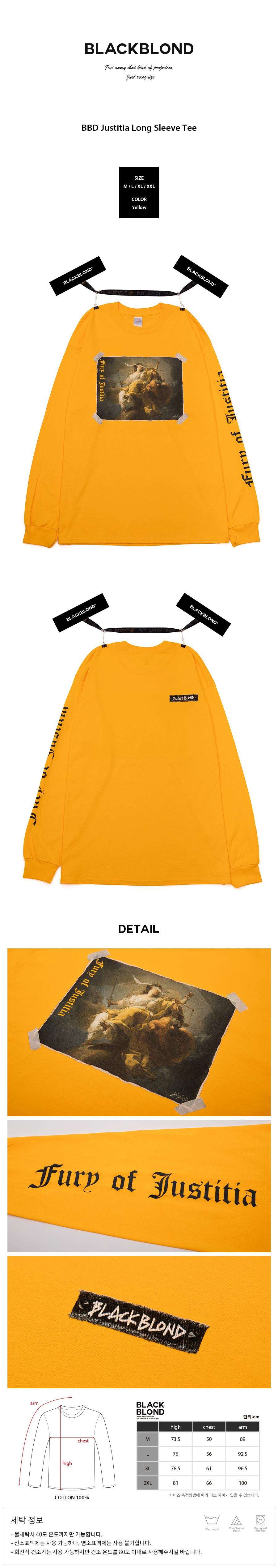 BLACKBLOND - BBD Justitia Long Sleeve Tee (Yellow)