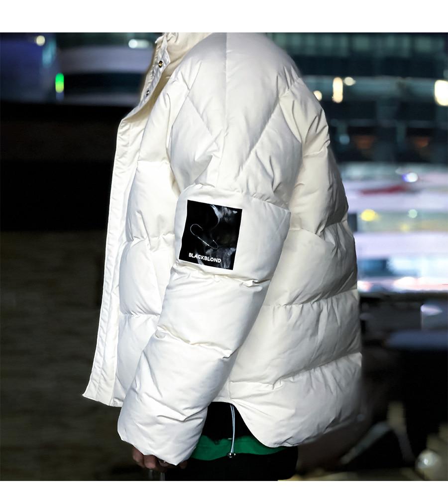 BLACKBLOND - BBD Patch Duck Down Short Padding Jacket (Ivory)