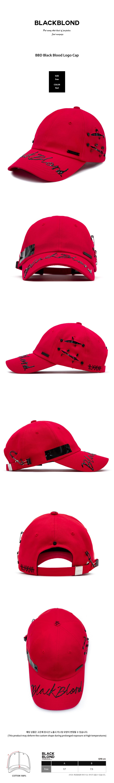 (8/29부터 순차발송)블랙블론드 BLACKBLOND - BBD Black Blood Logo Cap (Red)