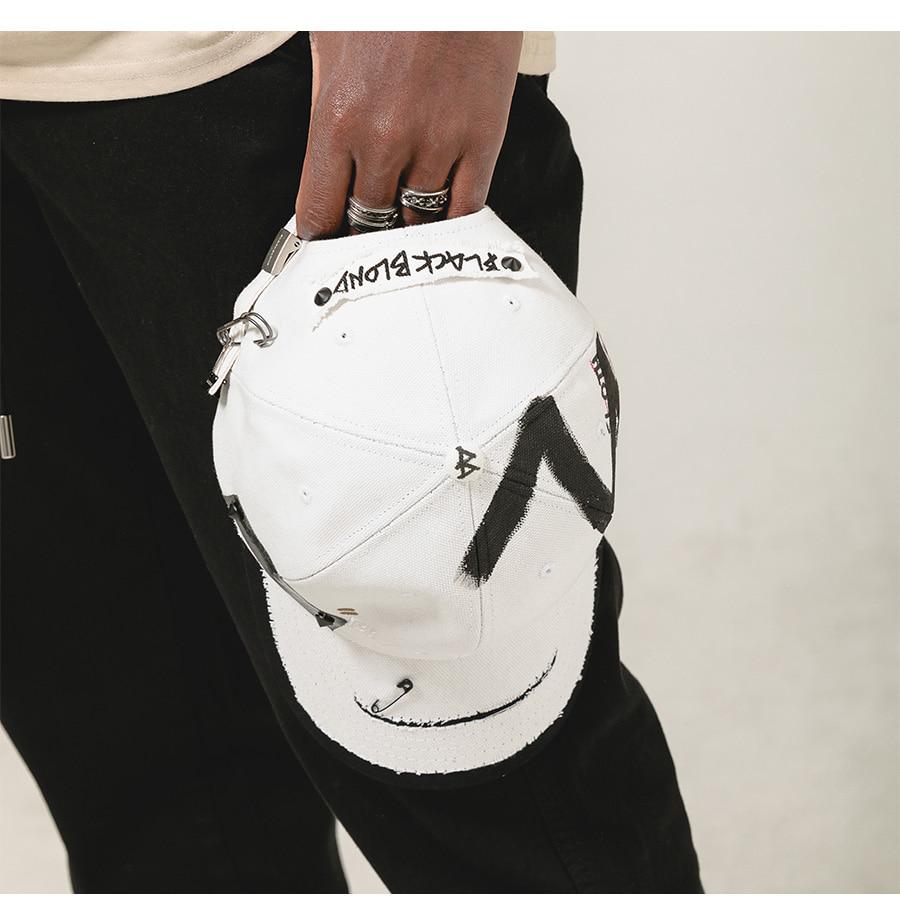 블랙블론드 BLACKBLOND - BBD Solid Oxford 7 Sins Graffiti Cap (White)