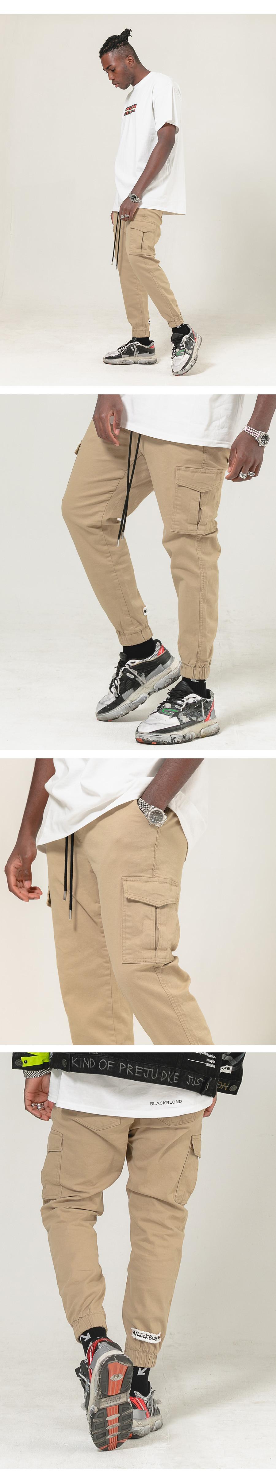 블랙블론드 BLACKBLOND - BBD Basic Cargo Jogger Pants (Beige)