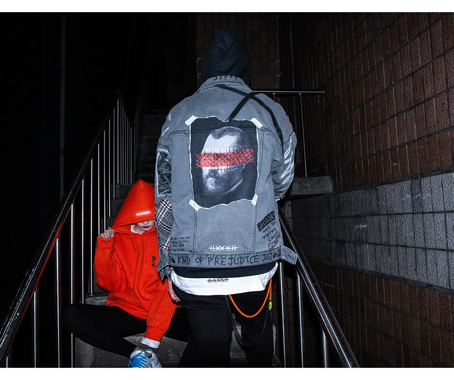 블랙블론드 BLACKBLOND - BBD Brutal Denim Jacket (Dark Gray)