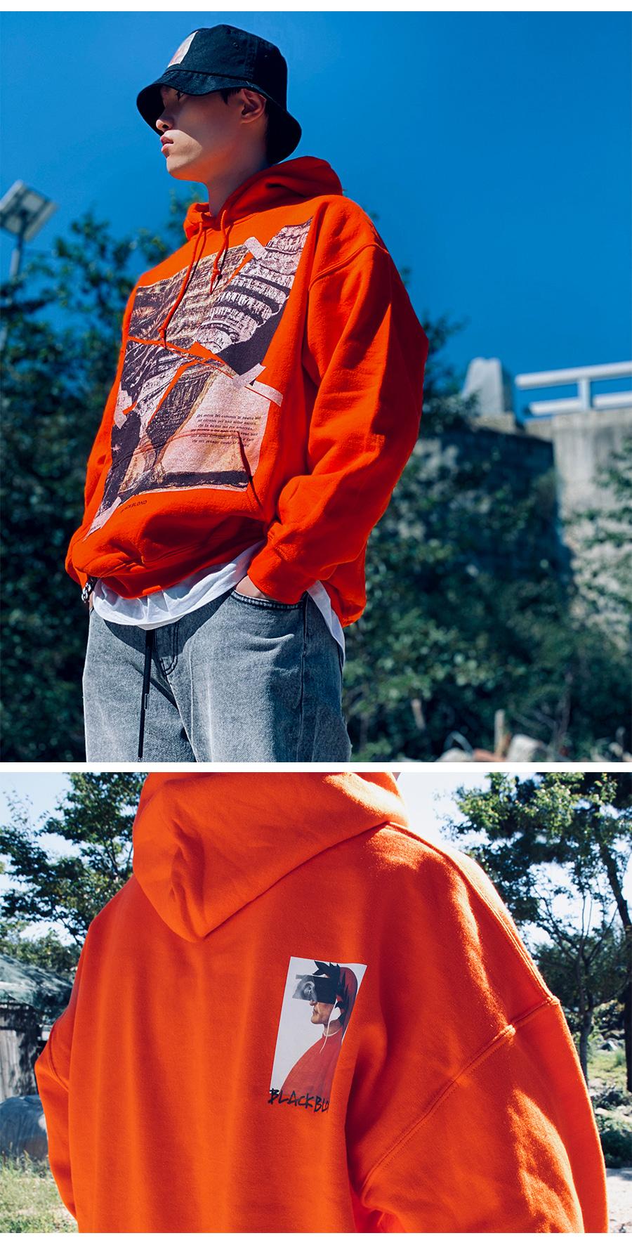 BLACKBLOND - BBD Crushed Era Hoodie (Orange)