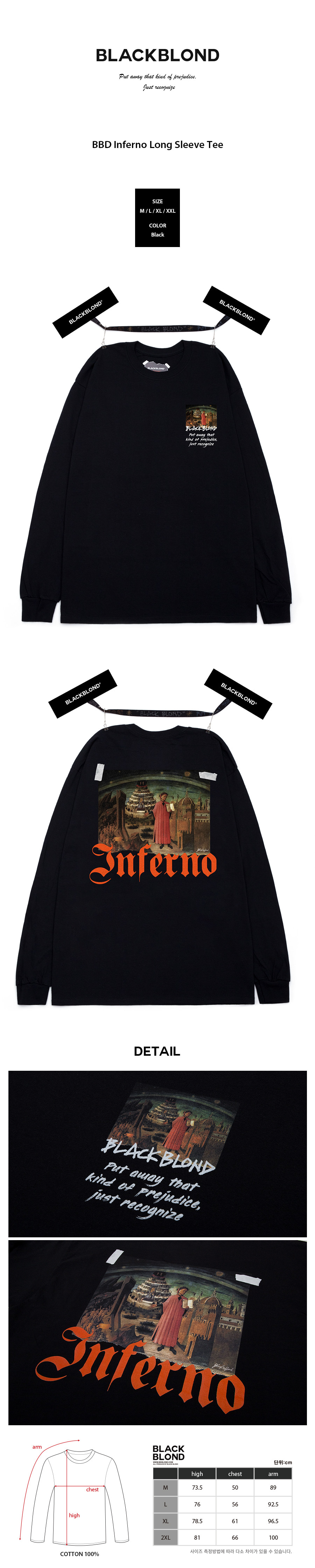 BLACKBLOND - BBD Inferno Long Sleeve Tee (Black)