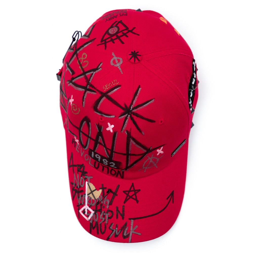 [8/29 배송] BBD Plate Logo Monster Cap (Red)