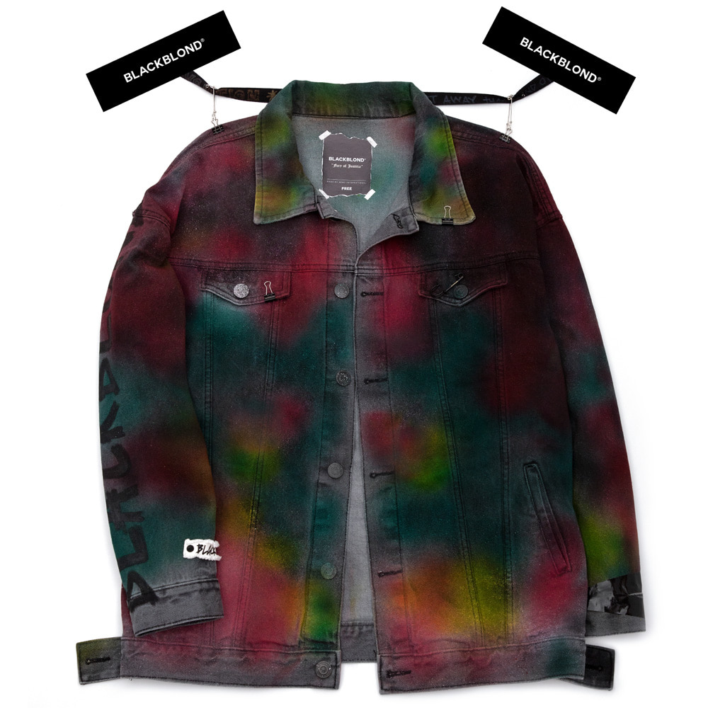 BBD Aurora Sprayed Denim Jacket (Multi)