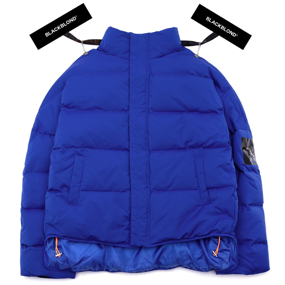 BBD Patch Duck Down Short Padding Jacket (Blue)