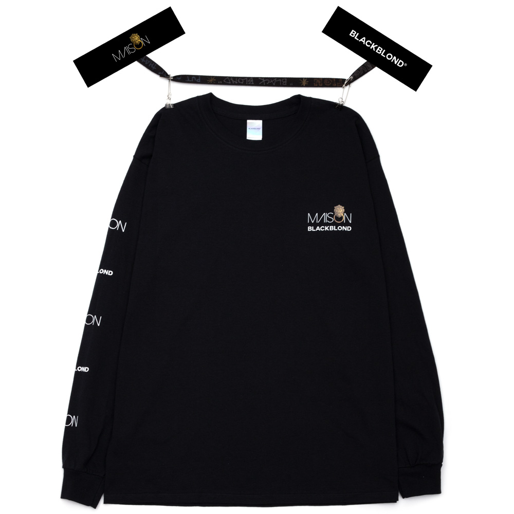 BLACKBLOND X MAISON Long Sleeve Tee (Black)