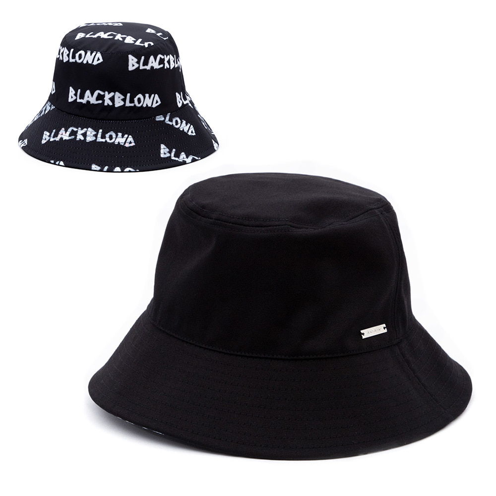 BBD Graffiti Logo Reversible Plate Bucket Hat (Black)