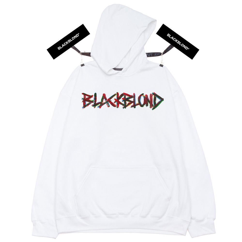BBD Painted Graffiti Logo Hoodie (White)