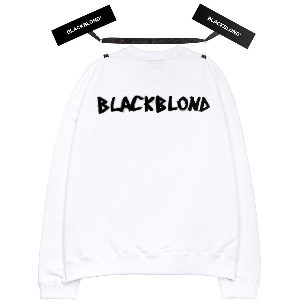 BBD Graffiti Logo Crewneck Sweatshirt (White)