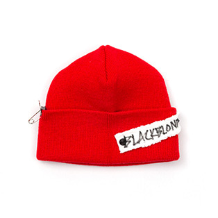 BBD Side Patch Short Beanie (Red)