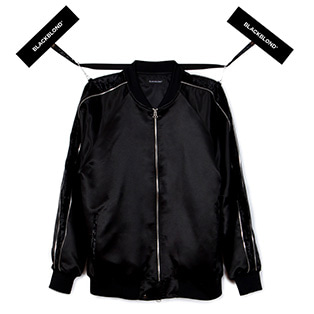 BBD Zip Velvet Armed Sukajan Jacket (Black)