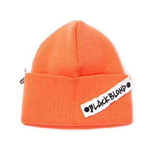BBD Side Patch Long Beanie (Orange)