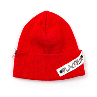 BBD Side Patch Long Beanie (Red)
