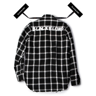 BBD Plaid Tweed Shirt (Black)