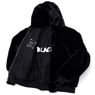 BBD Reversible Fur Hood Jacket (Black)