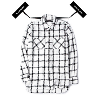 BBD Plaid Tweed Shirt (White)