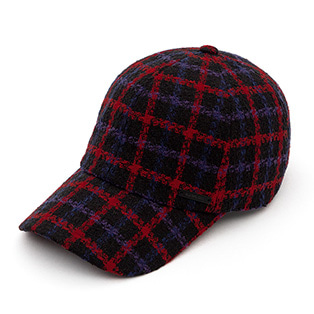 BBD Plaid Tweed Cap (Black)