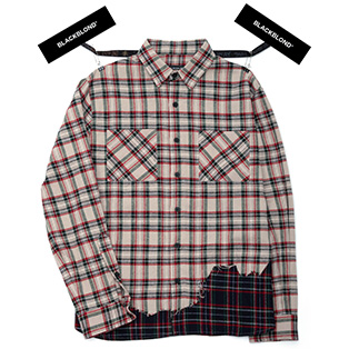 BBD Layered Check Shirt (Beige)