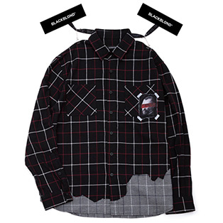 BBD Brutal Layered Check Shirt (Black)