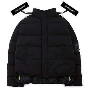 BBD Patch Duck Down Short Padding Jacket (Black)