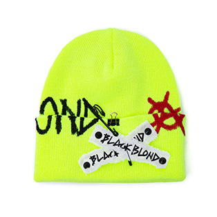 BBD Graffiti Logo Patch Beanie (Neon)