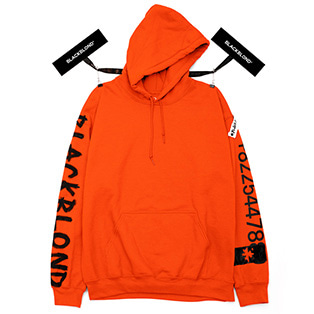 BBD Graffiti Number Hoodie (Orange)
