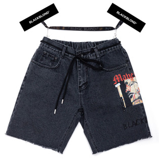 BBD Maverick Denim Shorts (Black)