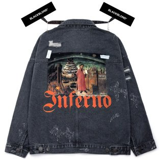 BBD Inferno Denim Jacket (Chacoal)